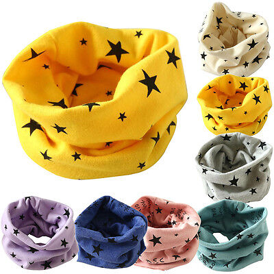 Autumn Winter Warm Boys Girls Collar Baby Scarf Soft Cotton O Ring Neck Scarves