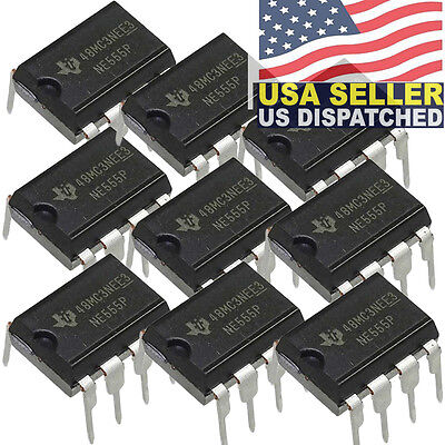 Texas Instruments Ne555p Ic Osc Single Timer 100khz 8-dip Pack Of 10