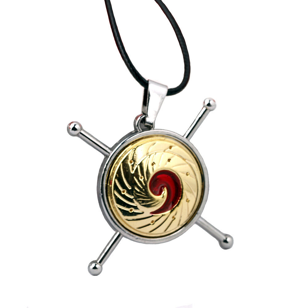 Naruto Logo Necklace Alloy Pendant Jewelry Anime Cosplay Gifts