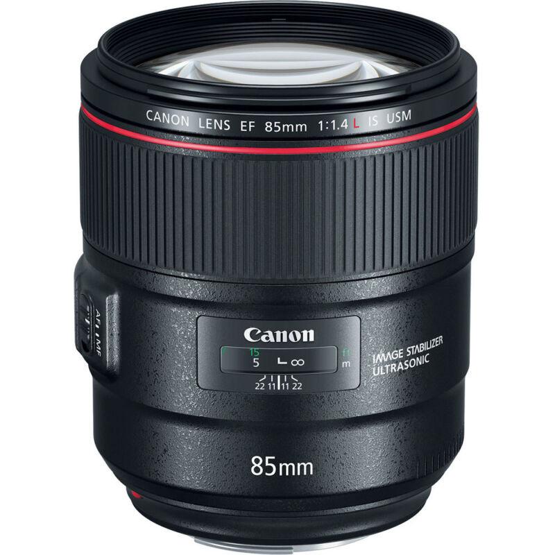 Canon EF 85mm f/1.4L IS USM Telephoto Lens for Canon DSLRs Black 2271C002
