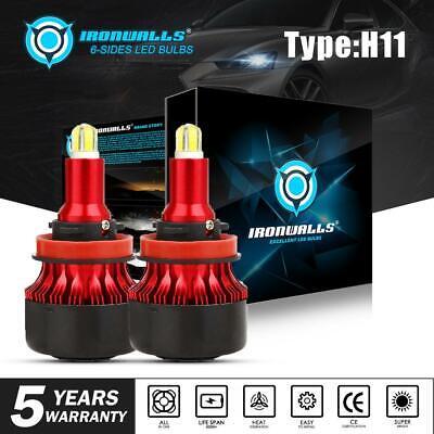 H11 H9 H8 LED Headlight 4-sides Super Bright High/Low Beam Bulbs High Power HID comprar usado  Enviando para Brazil