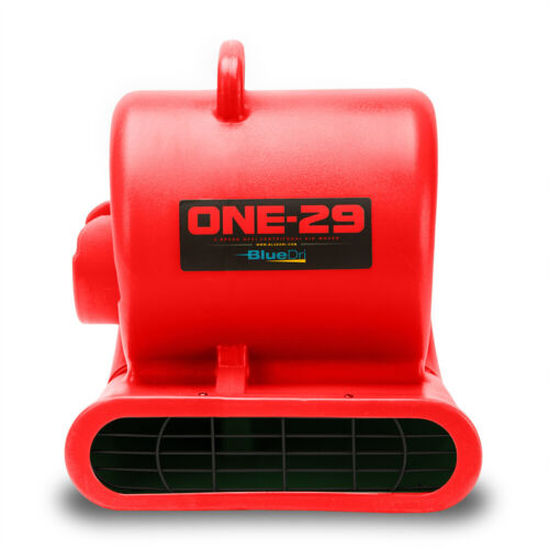 BlueDri ONE-29 Air Mover Carpet Dryer Floor Blower Fan High CFM Low Amps, Red