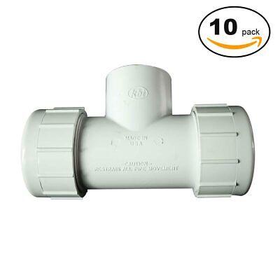 PrimeX 85340 1 Inch PVC St Comp. Tee - 10/Pack