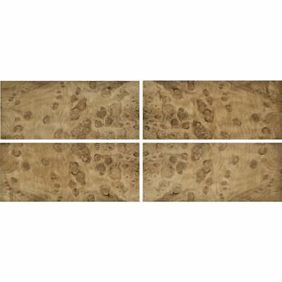 Exotic Myrtle Burl Wood Veneer Rawunbacked 4 Pc Pack - 16 X 36 Total