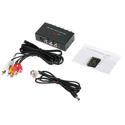 2 In 1 Out Composite Video Audio 3RCA AV Switch Switcher Box Button Control J5K8 2 Out Composite Video