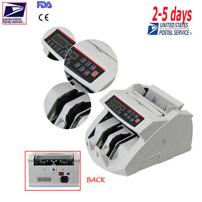 Money Cash Counting Counter Bank Counterfeit Detector Uv Mg Machine Usd