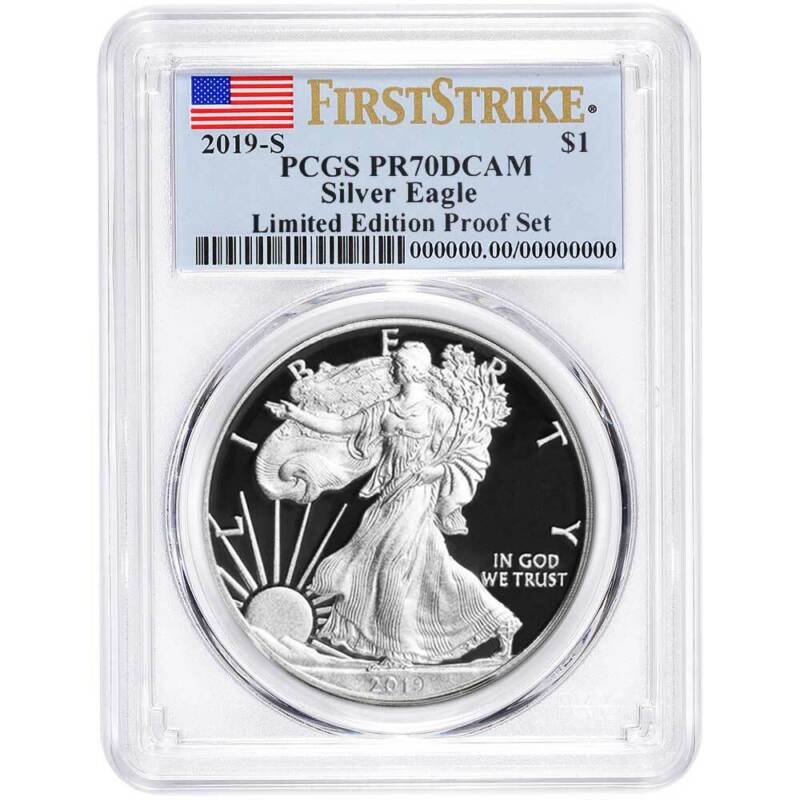 2019-S Limited Edition Proof Set $1 American Silver Eagle PCGS PR70DCAM FS Flag