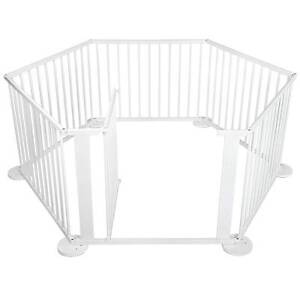 AUS FREE DEL-6 Sides Sturdy Baby Natural Wooden Playpen - White Sydney City Inner Sydney Preview