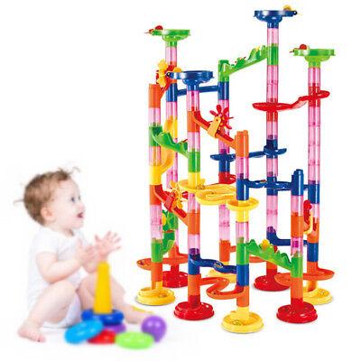 Kugelbahn Murmelbahn DIY Bausteine für Kinder Spielzeug Lernspiel Farbenfroh 105
