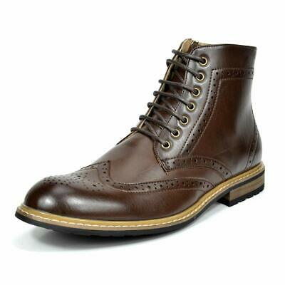 Bruno Marc Men's Dress Ankle Motorcycle Boots Leather Lined