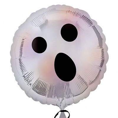 Halloween Cute Ghost FOIL Helium Balloon Ghost Face Halloween Party Decorations (Halloween Balloon Faces)
