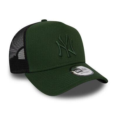NEW ERA NEW YORK YANKEES BASEBALL CAP.LEAGUE ESSENTIAL A FRAME TRUCKER HAT (New Era New York Yankees Trucker Cap)