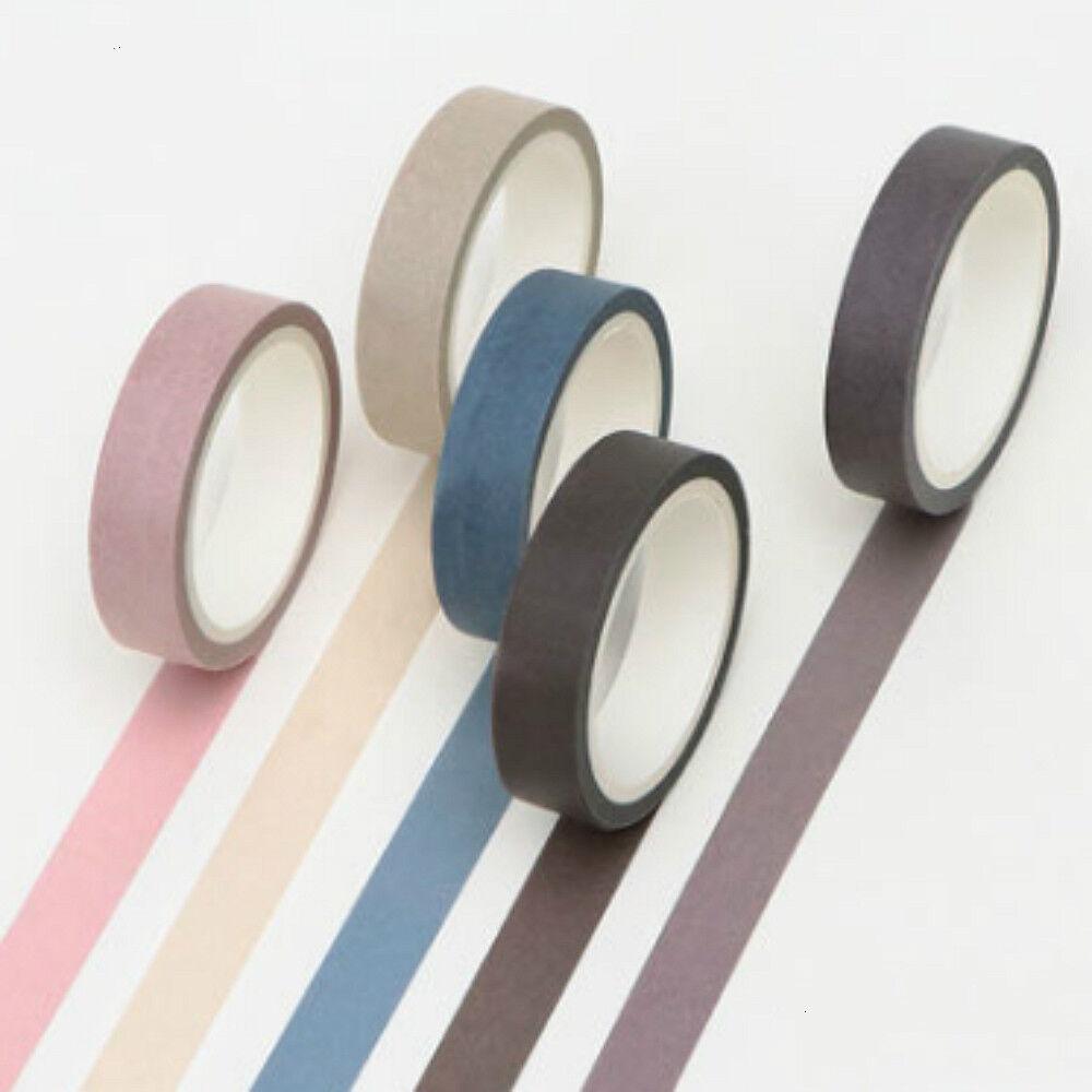 5 Writable Rolls Paper Washi Masking Tape Scrapbooking Masking Sticky Adhesive Adhesives & Tape