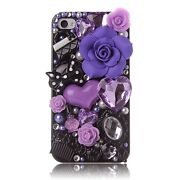 Purple Rhinestone iPhone 4 Case