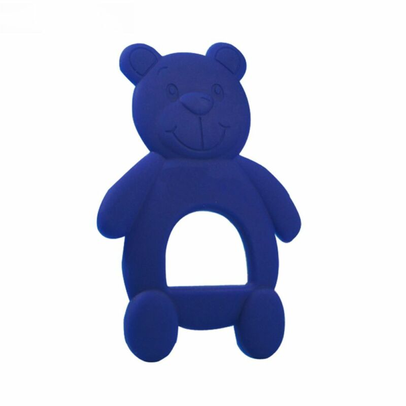 Rubber Training Infant Cartoon Bear Teething Safety Silicone Baby Teether