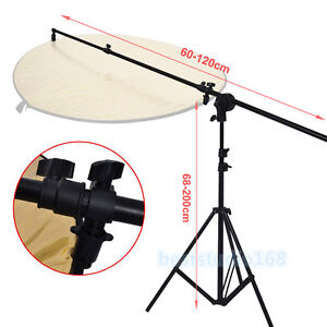 Photog Studio Light Holder Reflector Panel Arm Bar Grip Stand Photo Bracket UK