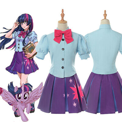 My Little Pony Twilight Sparkle Cosplay Costume Fancy Dress Uniform Full Set - My Little Pony Twilight Sparkle Costume