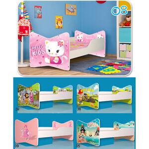 Kinderbett-Jungen-Maedchen-Bett-Babybett-Matratze-Lattenrost-Spielbett ...