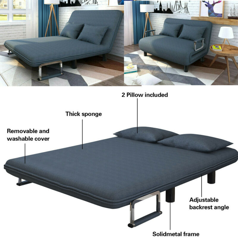 Foldable Leisure Recliner Sofa Bed Chair Couch Sleeper Conve