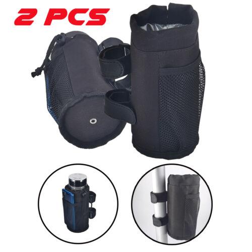 US STOCK 2X Nylon Bottle Cup Holder Water Drink For Wheelchair Bike Stroller aCC