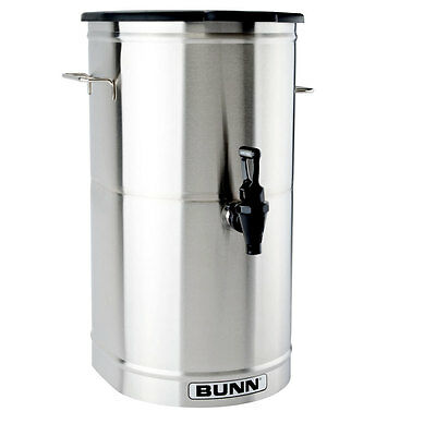 Bunn 34100.0001 Iced Tea Dispenser 5 Gallon Urn w/ Solid Plastic Lid Square Tea Dispenser