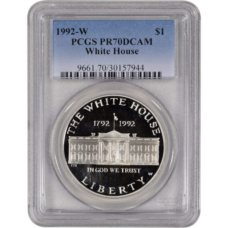 1992-W US White House Commemorative Proof Silver Dollar - PCGS PR70 DCAM