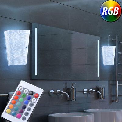 2er Set RGB LED Dekor Glas Leuchten Farbwechsel Dimmer Wand Lampen Ess Zimmer