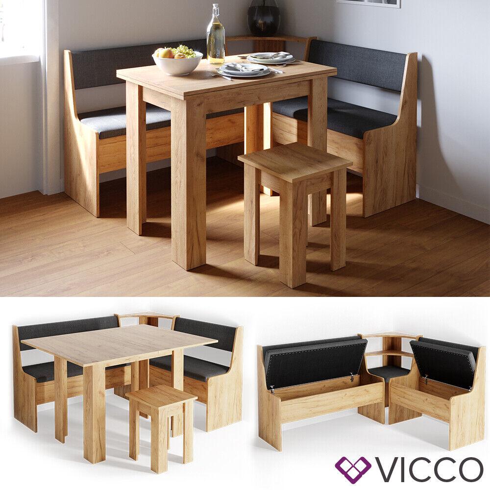 VICCO Eckbankgruppe ROMAN Eiche Esszimmergruppe Sitzgruppe Küchensitzgruppe