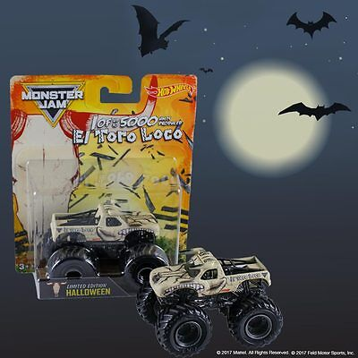 2017 Hot Wheels Monster Jam El Toro Loco Halloween Limited Edition 1 Of 5000