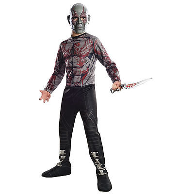 Marvel Comics Drax The Destroyer Boy's 2 Piece Halloween Costume Size Small 4-6 - Drax The Destroyer Halloween