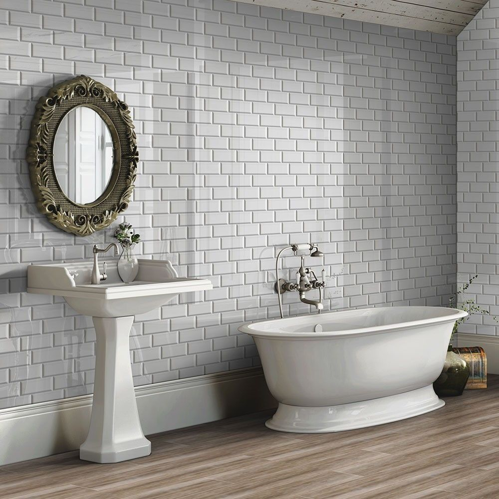 Wall Tile For Bathrooms: 13sqm LIGHT GREY METRO WALL TILES For Bathroom / Kitchen