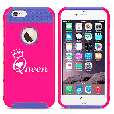 For iPhone X XS Max XR 7 8 Plus Shockproof Impact Hard Case Cover Queen w/ Crown](Crowns For Queens)