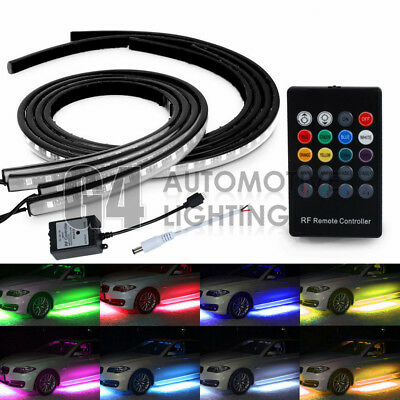 "RGB 48"" & 36"" LED Strip Undercar Tube Underglow Underbody Neon Light Kit 8 Color"