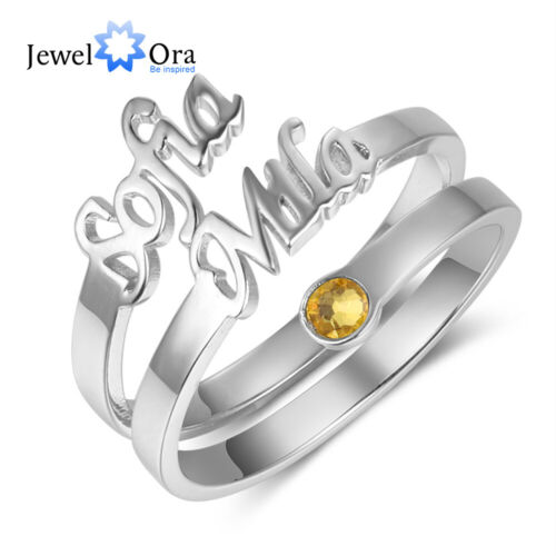 Personalized Name Rings Men Women Couple Jewelry Gift Adjust