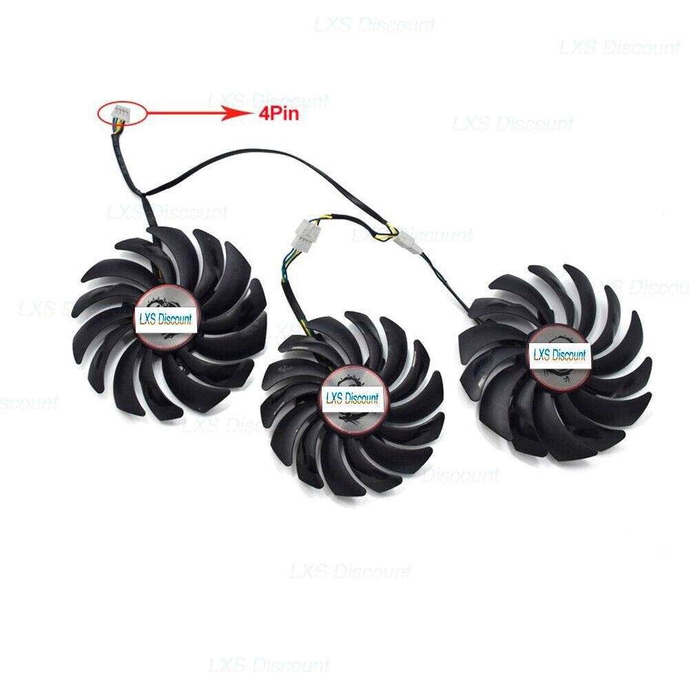 Grafikkarte Lüfter Ersatz für MSI GEFORCE GTX 1080 Ti Gaming X Trio Cooler Fan
