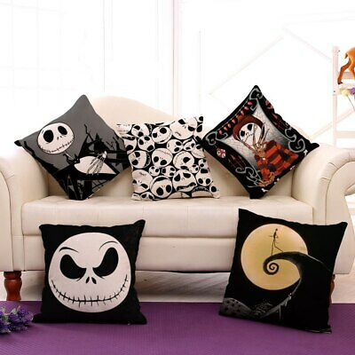 Nightmare Before Christmas Decorative Cushion Cover For Ghost Head Design Waist (Nightmare Before Christmas Cushion)