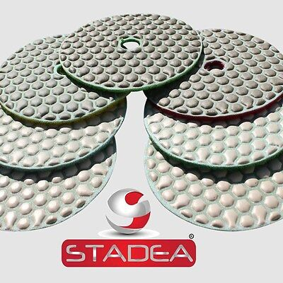 Stadea 4 Diamond Dry Concrete Stone Marble Granite Polishing Pads 51 Piece Set
