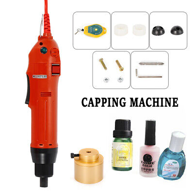 Handheld Electric Bottle Capping Machine Screwing Cap Tool 1-30mm Capping Dia