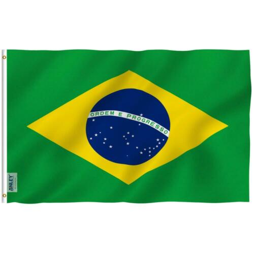 Fly Breeze 3 ft. x 5 ft. Polyester Brazil Flags 2-Sided Flag Banner -