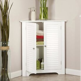 SALE!! Bathroom Storage Cabinet White Corner cabinet