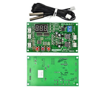 12v Dual Ways 3 Wire Display Digital Fan Speed Controller Temperature Thermostat