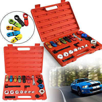 22PCS Deluxe A/C Fuel Transmission Line Disconnect Tool Set KIT For Ford GM Car