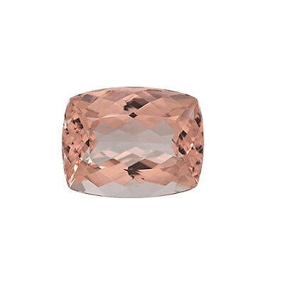 4.35ct 12x10mm Natural Rectangular Cushion Cut Morganite Loose Gemstones