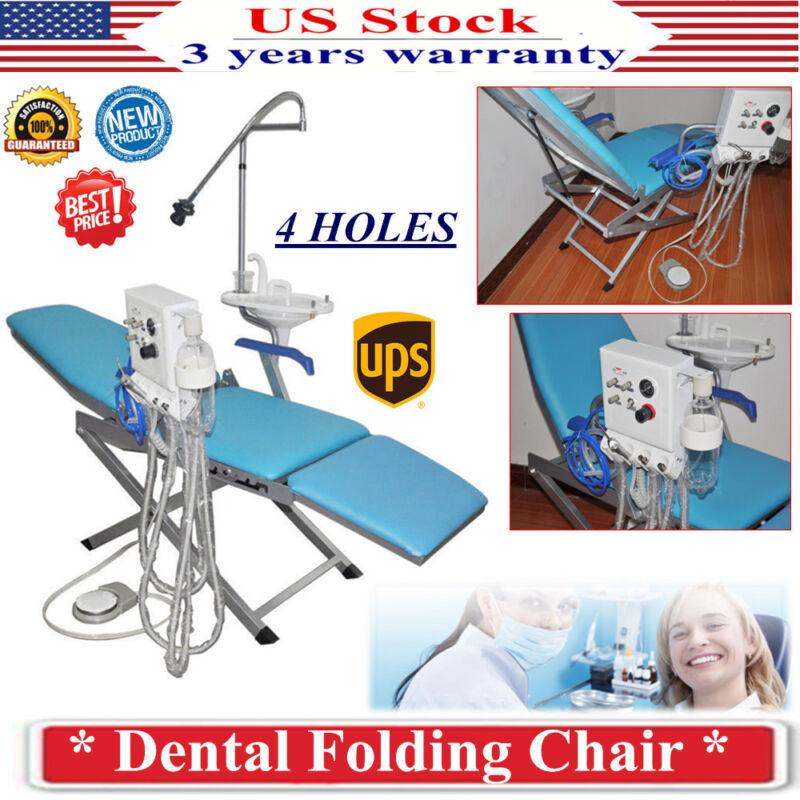 Dental Portable Folding Chair with Turbine Unit Flushing Water supply Turbine 4H