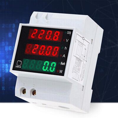 Ac 80-300v Digital Din-rail Current Voltage Power Meter Ammeter Voltmeter T8j0