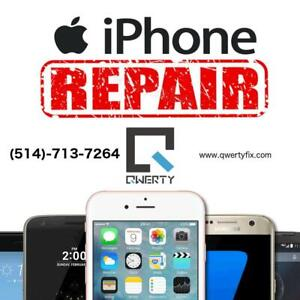 QWERTY Fix Laval | Reparation Apple iPhone iPad 4/4s/5/5s/5c/SE/6/6s/6+/6s+/7/7+/8/8+ (514)-713-7264