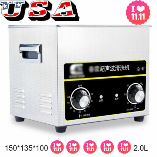 Stainless Steel 2L Capacity Industry Heated Ultrasonic Cleaner Heater Timer