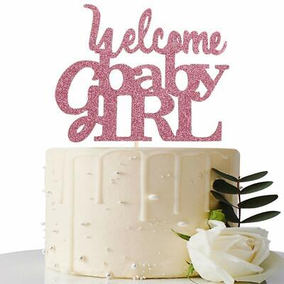 Pink Welcome Baby Girl Cake Topper - Baby Shower Party Decorations ](Welcome Baby Girl)
