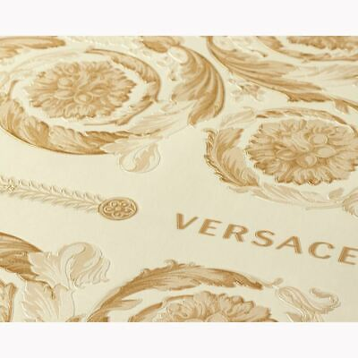 Versace IV Heritage Panel Metallic Wallpaper Cream/Gold 37055-2 Glamour