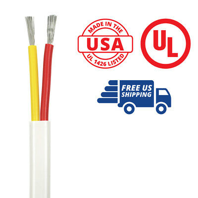 6/2 AWG Duplex Flat DC Marine Wire - 50 Feet - Red/Yellow - Made in the USA
